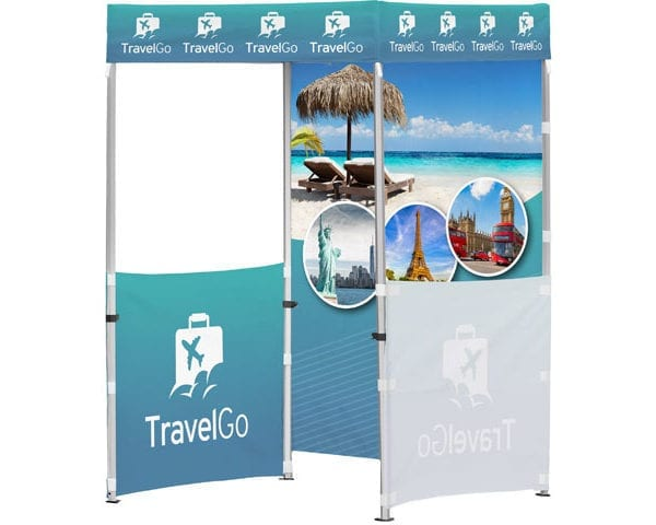 Ovation Gazebo 1.5 X 1.5M 2 Half Walls 1 Full Wall - PDC/G/43N-TTCW6 - Branding & Eventing - iDisplay.co.za