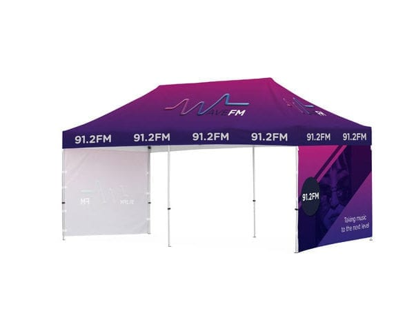 Ovation Gazebo 6 X 3M 2 Short Side Full Walls - PDC/G/0DE-C3AGV - Branding & Eventing - iDisplay.co.za